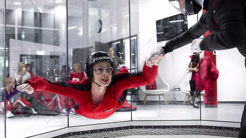 «Indoor skydiving» hos VossVind