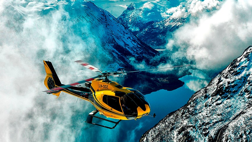 helikopter tur stryn